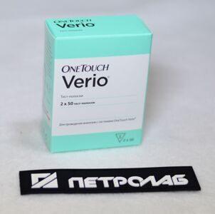 Тест-полоски One Touch Verio для определения уровня глюкозы в крови