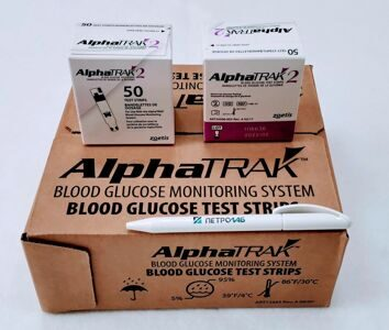 Тест полоски для ветеринарного глюкометра AlphaTrak